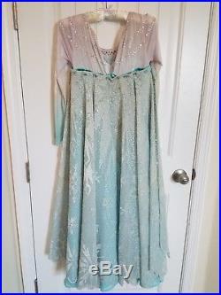 LIMITED EDITION of 1500 Disney Frozen Elsa costume dress girls L