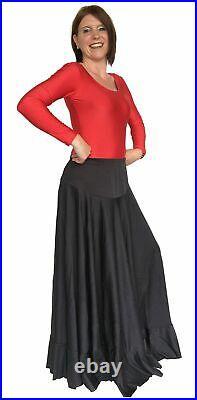 La Senorita Spanish Flamenco Skirt Ladies/Woman Black 42