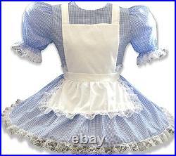 Lachelle CUTSOM FIT Blue Gingham Adult Little Girl Dress LEANNE