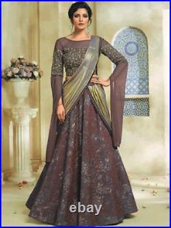 Latest Wedding Party Wear Lehenga Choli Dupatta Bollywood Style Fancy Dress