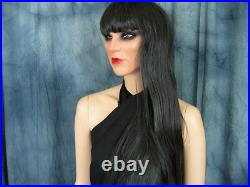 Latex Rubber Mask KIRA +LASHES +BANGS-WIG Real. Woman Girl Face Sissy Face