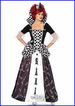 Leg Avenue 85572 BlackWhite Wonderland Chess Queen Fancy Dress Costume LargeU