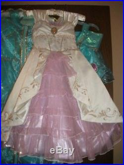 Limited Ed 4000 Rapunzel Wedding Gown Costume Tangled Disney Store 6 Dress GUC