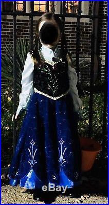 Limited Edition Disney Frozen Anna Costume- velvet and rhinestones- Size 5