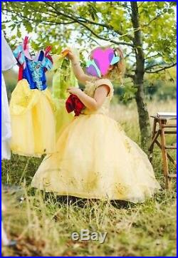 Limited Edition Disney Store Belle Dress Age 4 Like New