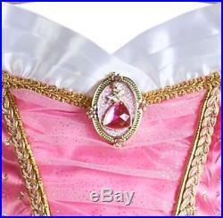 Lot 3 Cinderella Aurora Ariel Disney Store Dress Gown Costume Size 5/6 New