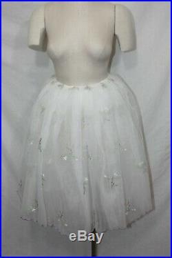 Lot of 29 White Romantic Length Tutus Ballet Dance Costume Recital