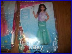 Lot of 6 Girls Size 3/4 4/6 Dress Up Clothes Costumes Disney Princess dress New