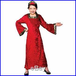 (M)Girls Tudor Princess Costume For Medieval Fancy Dress Childrens Kids Childs