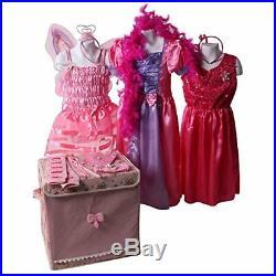 Making Believe Girls Pretty Pink Princess Dress up Trunk Size 6-8 Years