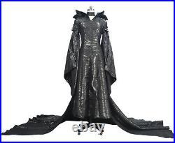Maléfique Robe Carnaval Femme Maleficent Femme de Luxe Robe Up Cosplay MLF003