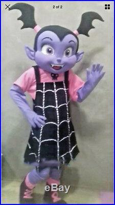 Mascot Vampirina Vee Purple Girl Vampire ADS Costume Halloween Party Fancy Dress