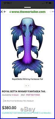 Mertailor Fantasea Royal Beta Mermaid Tail And Monofin /Silicone Mermaid Tail