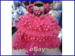 Minnie Mouse disney fiusha dots Dress girl costume ball gown disguise cosplay