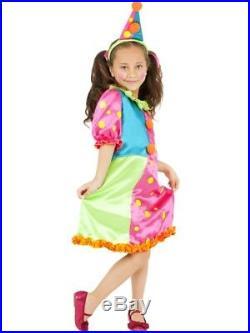 Miss Brighty Buttons Kinder Clown Kostüm Mädchen Größe M Zirkus 38639