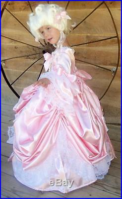 Modest Quality Historical Costume ColonialPink Marie AntoinetteChild Size 4-14