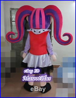 Monster High Draculaura Mascot Costume Girl Cartoon Fancy Party Dress Outfit