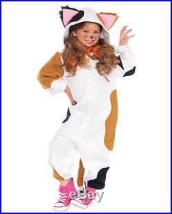 Morris Costumes Girl's Zipper Front Fleece Kitten Costume 4-6. UAC49108SD