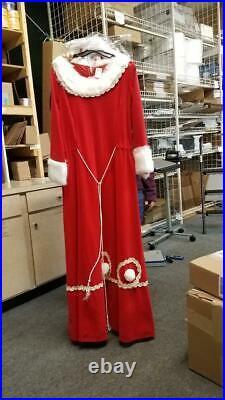 Mrs Santa Claus Ladies Costume Dress with Sequin Trim Size 4-6