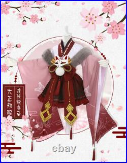My Hero Academia Cosplay Costume Girl Himiko Toga Kimono Suit Dress Full Set