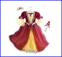 NEW Disney Store Belle Dress Beauty Beast Winter Princess Costume Size 3