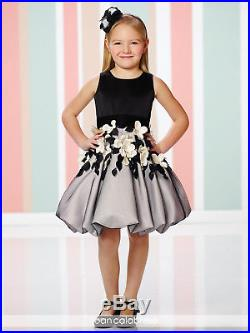 NEW Girl's Joan Calabrese FANCY Black Ivory SPECIAL OCCASION Dress size 8 216321