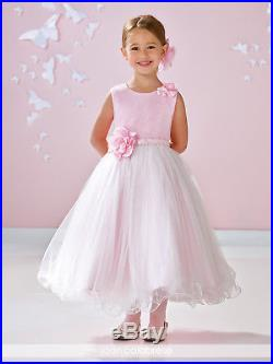 NEW Girl's Joan Calabrese FANCY Pink Ivory SPECIAL OCCASION DRESS size 7 117356