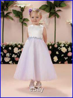 NEW Girl's Joan Calabrese Fancy Ivory Lavender FLOWER GIRL Dress size 2T 114330