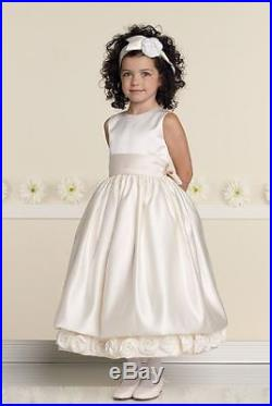 NEW Girl's Joan Calabrese Fancy Ivory SATIN SPECIAL OCCASION Dress size 7 19317