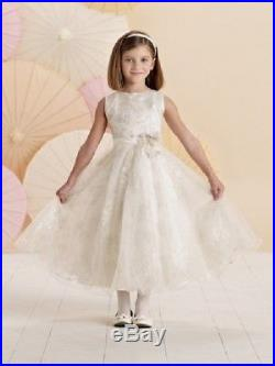 NEW Girl's Joan Calabrese IVORY White First COMMUNION Fancy Dress Size 10 214379