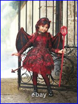 NWT CHASING FIREFLIES GIRLS PUNK DEVIL COSTUME, WINGS, & HORNS Size 14
