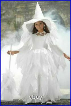NWT CHASING FIREFLIES GIRLS WHITE MIDNIGHT WITCH COSTUME with HAT