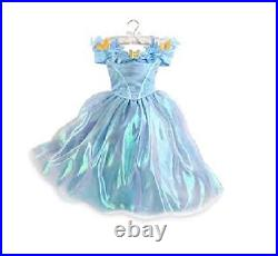 NWT Disney Store Authentic Girls Cinderella Live Action Blue Butterfly Costume
