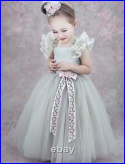 NWT Dollcake Hint of Gray Fancy Frock Dress Party Photo Girls sz 12