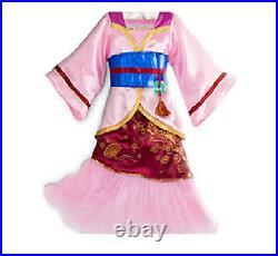 NWT Princess Mulan Kimono Costume Dress Girls Pink 2016 Size 5/6