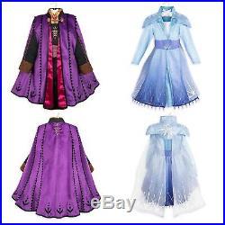 NWT frozen 2 disney store ANA and ELSA costume dress size 3
