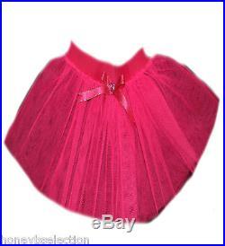 Neon Pink Tutu Skirt 1980's Fancy Dress Party Costume Book Week Toddler Girls