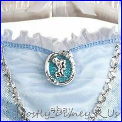 New Disney Store Exclusive Girls Cinderella Blue Costume Gown Dress 9/10