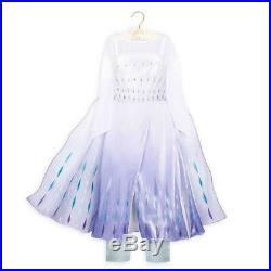 New Disney Store Frozen 2 Girls Size 4 Snow Queen Elsa Deluxe Costume