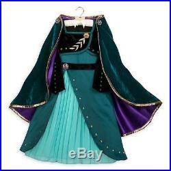 New Disney Store Frozen 2 Girls Size 5 6 Queen Anna Deluxe Costume