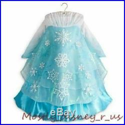 New Disney Store Frozen Princess Queen Elsa Deluxe Edition Costume Gown Dress