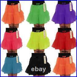 New Girls Children Kids Neon 2 Layers TuTu Fancy Dress Skirt-Age 5-10 Years