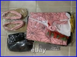 Nezuko cosplay Cloth Set Medium Side Young Girl From 10-18year Old