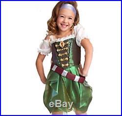 Nwt Disney Zarina Tinkerbell Tink Pirate Fairy Costume Dress Belt Girls S 5 6