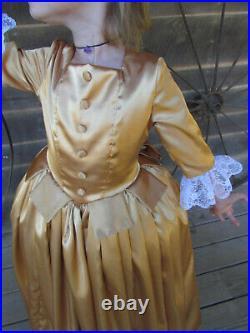 Peggy Schuyler Hamilton Historical Costume Clothing Dress GoldChild size 10/12
