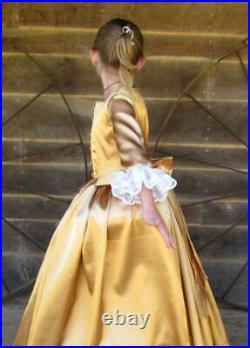 Peggy Schuyler Hamilton Historical Costume Clothing Dress GoldChild size 14