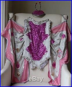 Petite Pearl Lowe Silk Net Fuchsia & Grey Butterfly Costume 8-9 Years