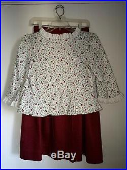 Pleasant Company Child Size Felicity School Clothes American Girl Skirt &Jacket