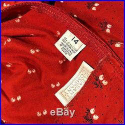 Pleasant Company Kirsten American Girl Size 14 Prairie School Red Dress Bloomers