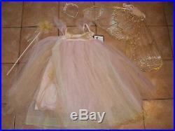 Pottery Barn Kids Butterfly Fairy Costume Pink Halloween 4 6 Years #2107